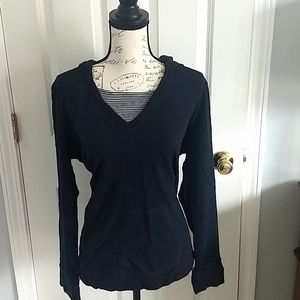 Women's Liz Claiborne long sleeve hooded pullover